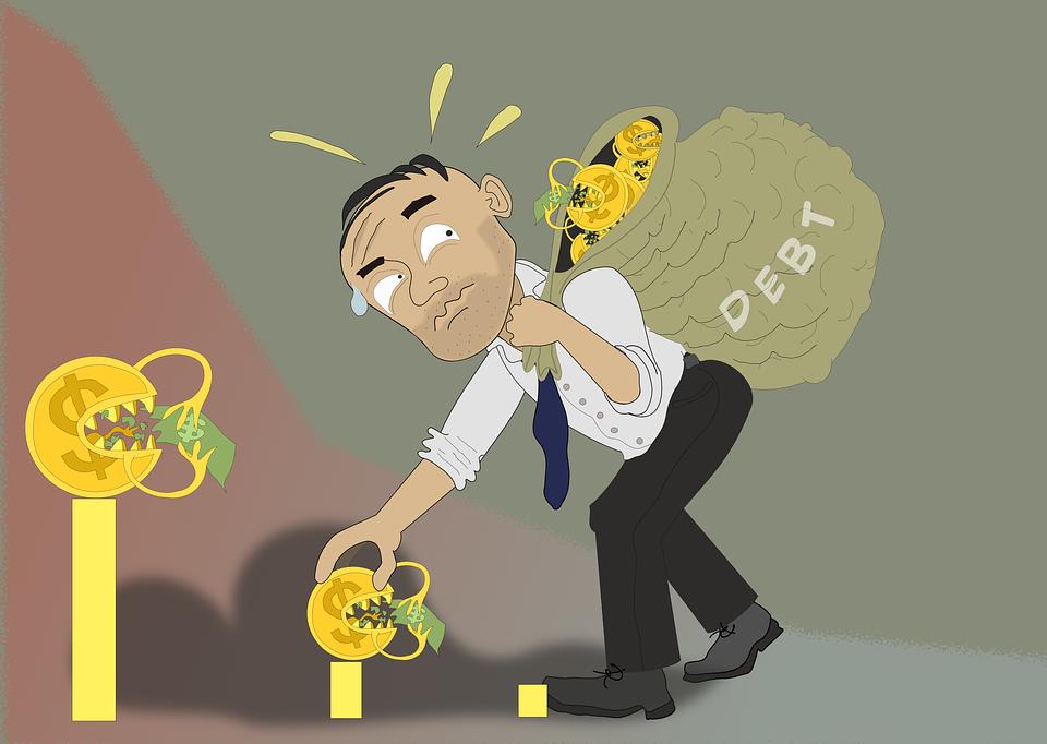 mand med gæld
