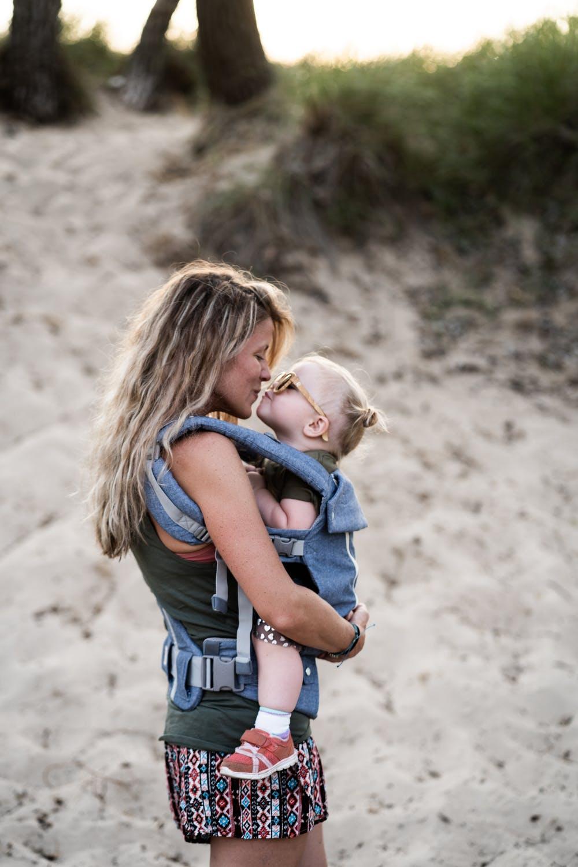 Baby i bæresele